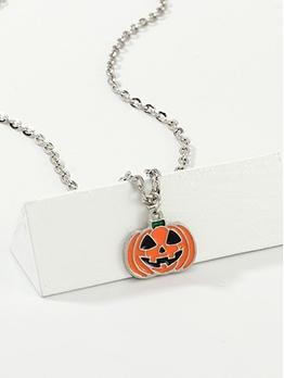 Funny Spoof Pumpkin Halloween Necklace