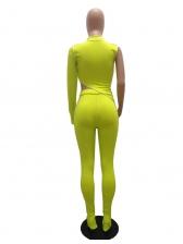 Mock Neck One Sleeve Irregular Two Piece Pants Set