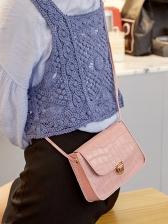 Pure Color Alligator Pattern Shoulder Bags For Women