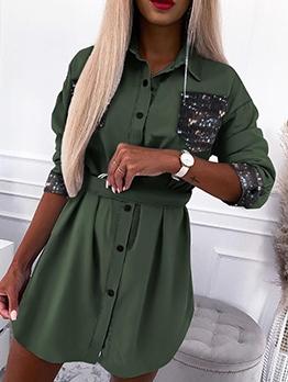 Casual Autumn Blouse Long Sleeve Dress