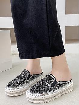 Euro Rhinestone Sequins Height Elevator Shoes