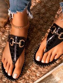Summer Round Toe Women Flip Flop Slippers