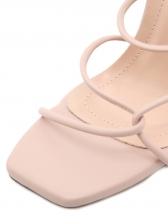 Simple Solid Stiletto Cheap Sandals