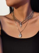 Punk Style Street Fashion Layered Necklace