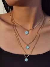 Simple Fashion Beautiful Women Layered Necklace