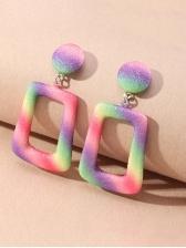 Creative Geometric Metal Women Earrings