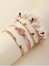 Beach Style Summer Shell Bracelet Set