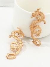 China Style Metal Dragon Women Ear Stud