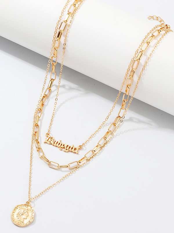 Latest Style Fashion Letter Thick Necklace