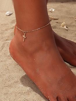 Beach Fashion Simple Cross Ankles Chain
