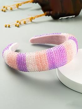 Luxury Beads Contrast Color Hair Hoop