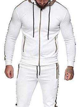 Fashion Zipper Patchwork Long Sleeve Hoodie