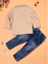 Fashion Long Sleeve Boys Three Piece Sets
