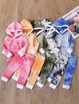 Kids Tie Dye Long Sleeve Two Piece Sets