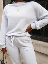 Pure Color Long Sleeve Sweatshirt 2 Piece Sets
