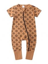 Baby Zipper Short Sleeve Summer Rompers