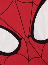 Boys Spider Man Cartoon Print Two Piece Sets