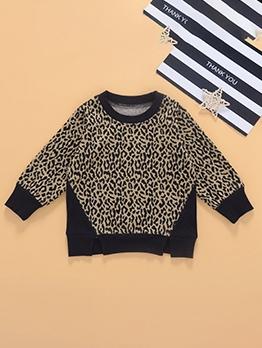 Leopard Long Sleeve T Shirts Boys