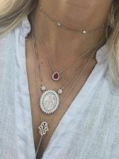 Trendy Multilayer Zircon Layered Necklace