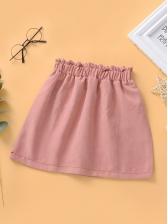Fashion Elastic Fly Skirt For Girls