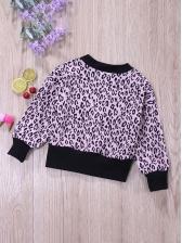 Leopard V Neck Button Cardigan Coat