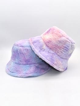 Rainbow Color Winter Bucket Fisherman Hat