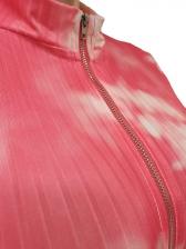 Long Sleeve Skinny Zipper Up Tie Dye Jumpsuit