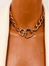 Trendy Punk Style Heart Shape Necklace