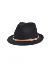 Solid Woolen Unisex Fedora Hat