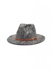 Snake Print Outdoors Travel Fedora Hat