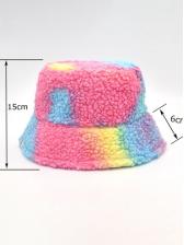 Winter Lamb Wool Tie Dye Fisherman Hat
