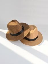 Preppy Style Beach Travel Fedora Hat