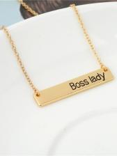 Simple Letter Design Fashion Necklace