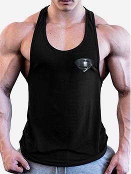 Men U Neck Summer Workout Tank Tops