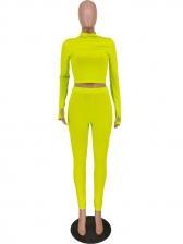 Autumn Solid Color Bodycon 2 Piece Pants Set