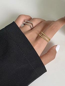 Geometric Shape Online Celebrity Fashion Ring