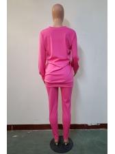 Plain Solid Color Sports 3 Piece Pants Set