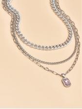 Geometry Zircon Pattern Fashion Necklace