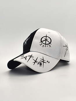 Contrast Color Graffiti Summer Baseball Cap