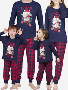 Casual Home Christmas Print Family Sets