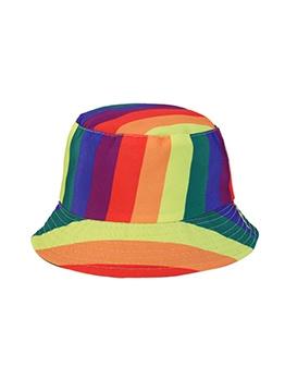 Contrast Color Striped Reversible Fisherman Cap