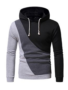 Casual Contrast Color Mens Sweatshirts