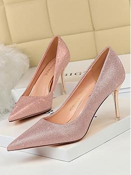 Glitter Pointed Toe Women Stiletto Heels