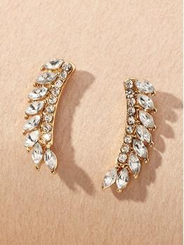 Rhinestone Design Temperament Women Earrings