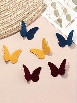 Solid Butterfly Simple Fashion Stud Earrings