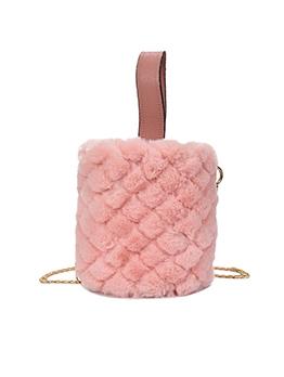 New Arrival Solid Plush Rhombic Mini Bag