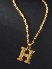 Trendy Simple English Letter Pendant Necklace