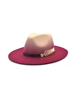 New Chain Contrast Color Jazz Hat