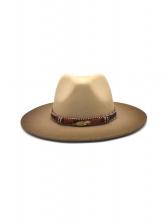 Elegant Flat Brim Top Hat