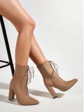 Fashion Chunky Heel Suede Womens Boots
